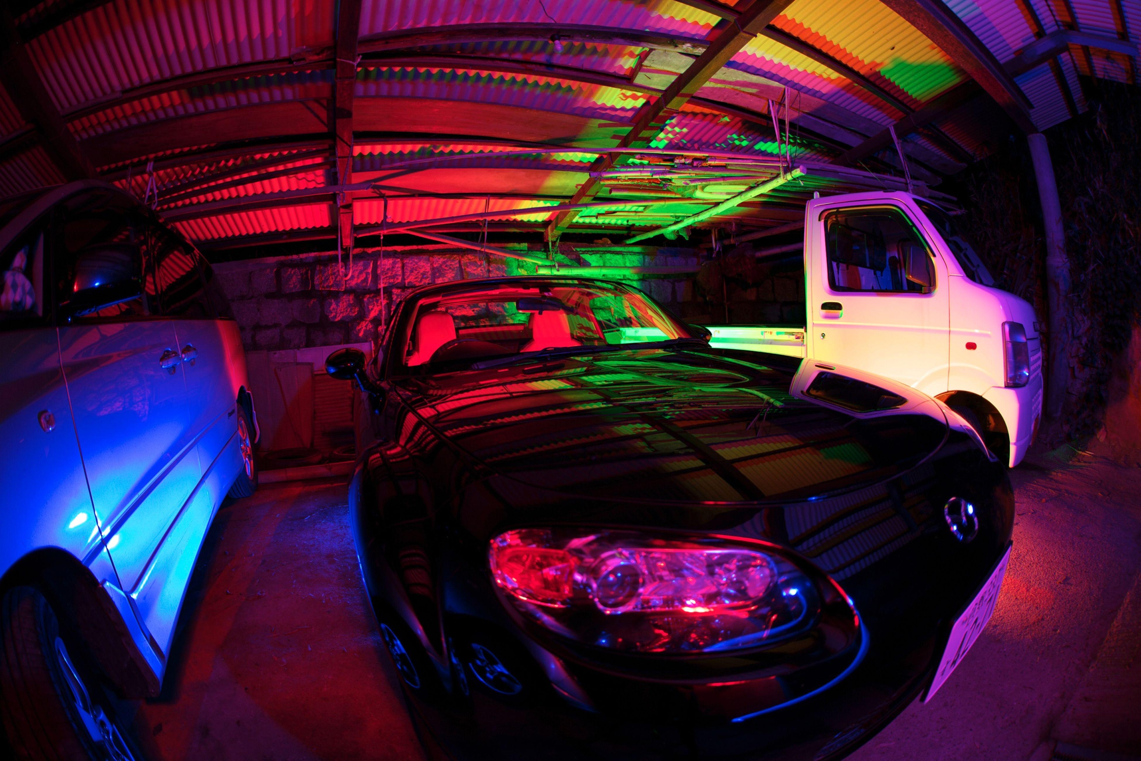 Light painting around a car Lightpainting Light Painting MazdaMaita Mazda Roadster Roadster Okayama,Japan Okayama