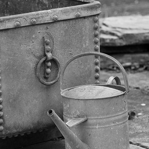 Wateringcan Watering Troughs Blackandwhite Monochrome Light And Shadow Gardening Metal Garden Architecture