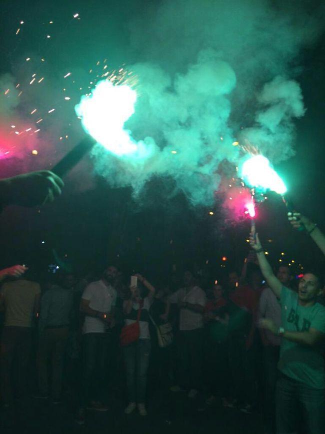 Pınar Karşıyaka Champion Celebration Fans Bostanlı Karşıyaka ❤💚 🎆🎇🎊🎉