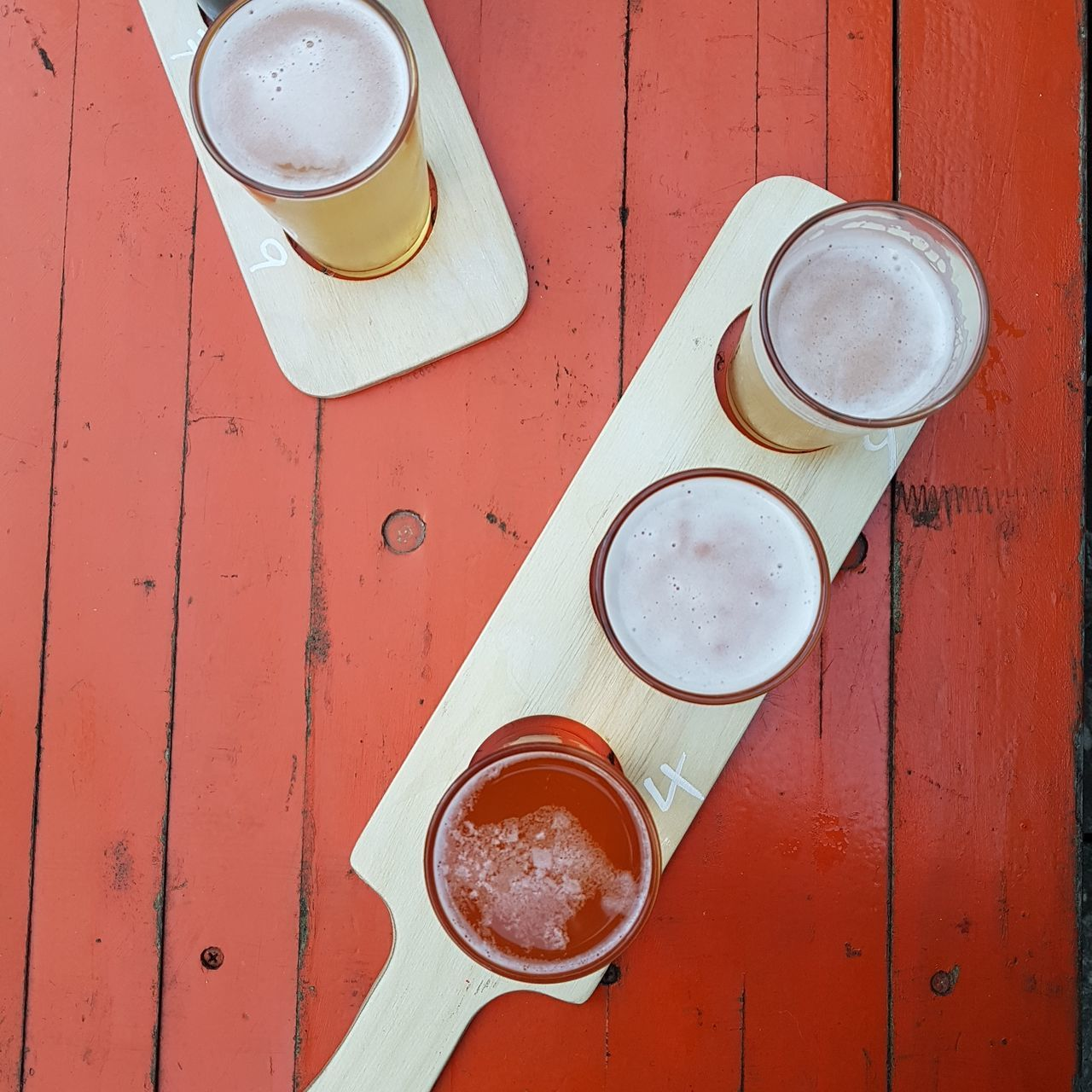 Beer Food And Drink Drink High Angle View Refreshment No People Directly Above Still Life Colours Whitstable Red Orange Ale Craft Craftbeer