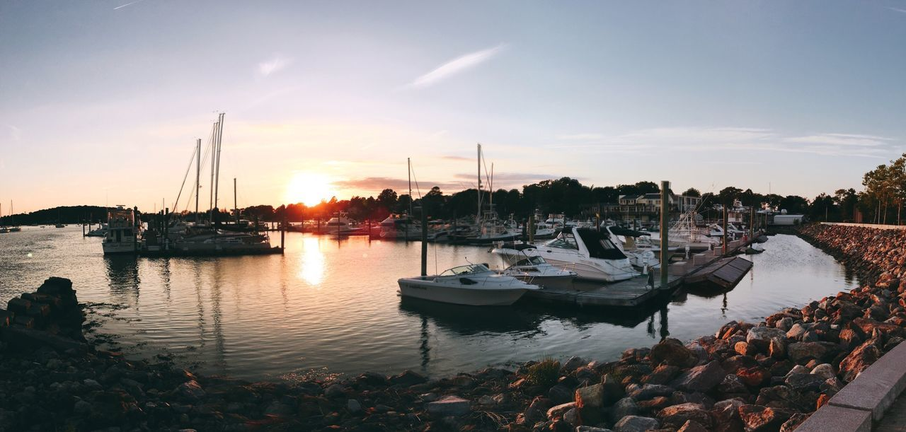 Marina Enjoying Life AMPt_community Summer2016 Waterfront Harbor NEM Mood Best EyeEm Shot Best Of EyeEm Panorama Sunset Boats Water Sunset_collection Reflection