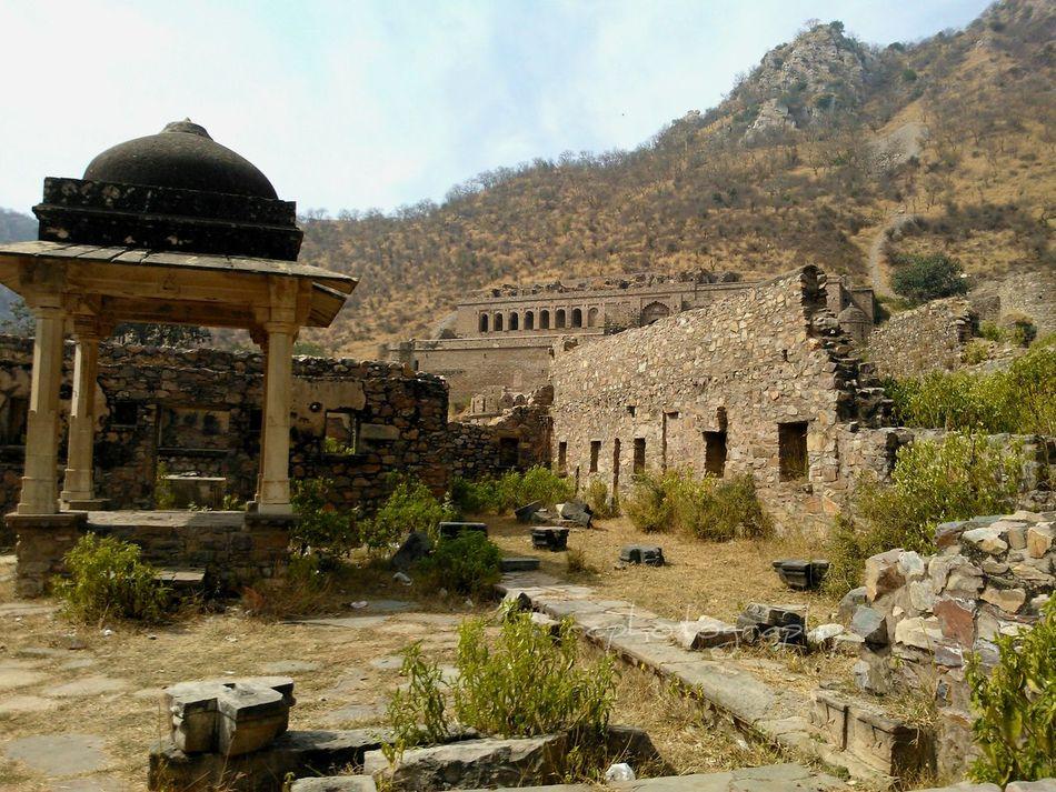 Rajasthan India Alwar Haunted Palace Bhangarh Fort Ruins
