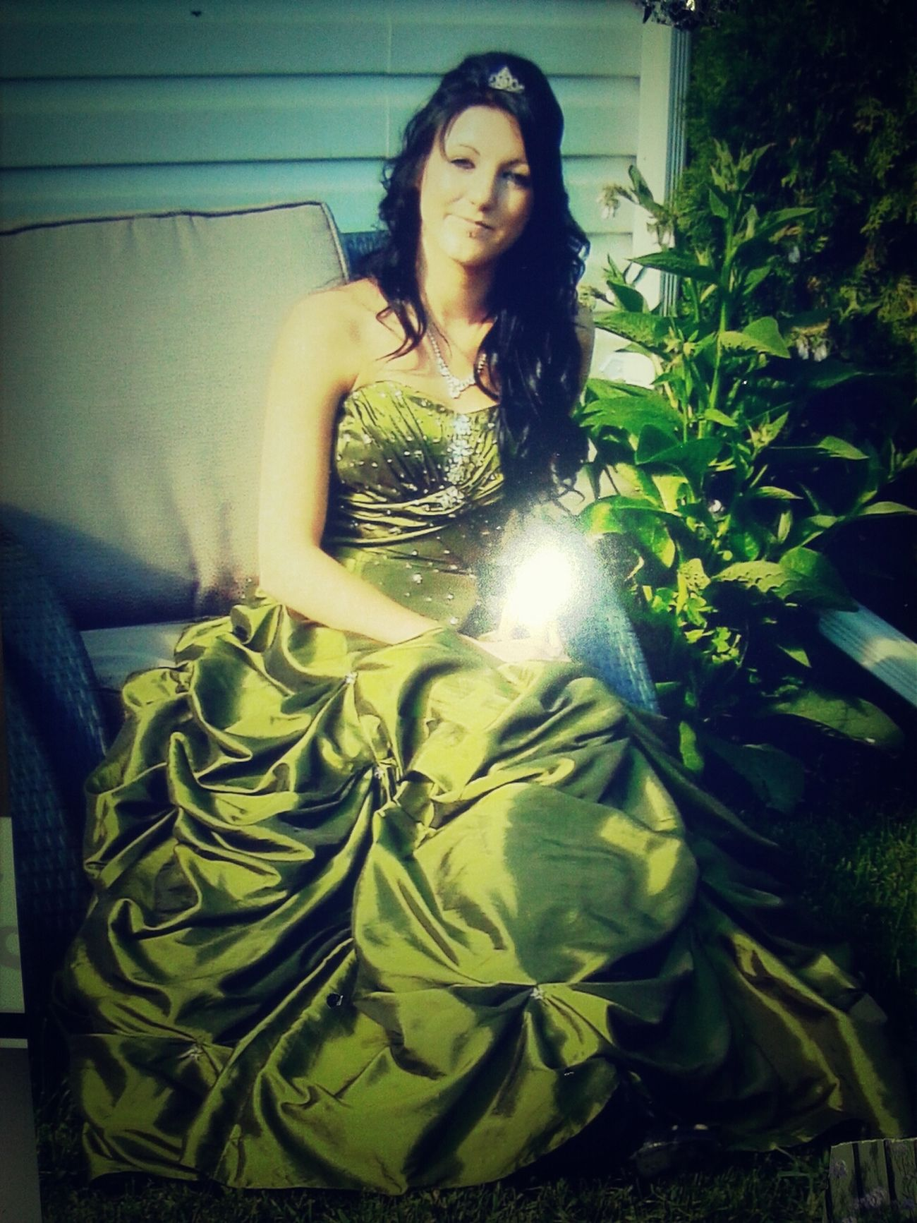 Things That Are Green Beautiful ♥ Dress Graduation 2011 #memories #grad #2011 #Best #Feeling #greenDress #guess #heels #smiles #loved #every #minute