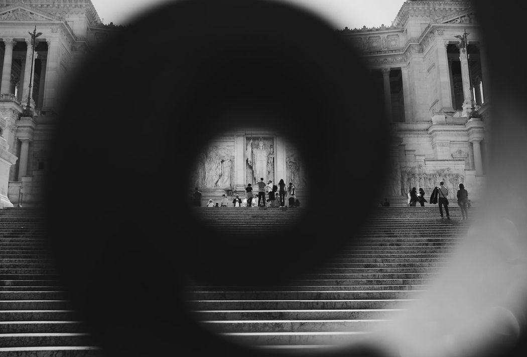 Through the fence // VSCO Vscocam Fences Streetphotography Streetphoto_bw Black & White Being A Tourist Blackandwhite Monochrome Black And White