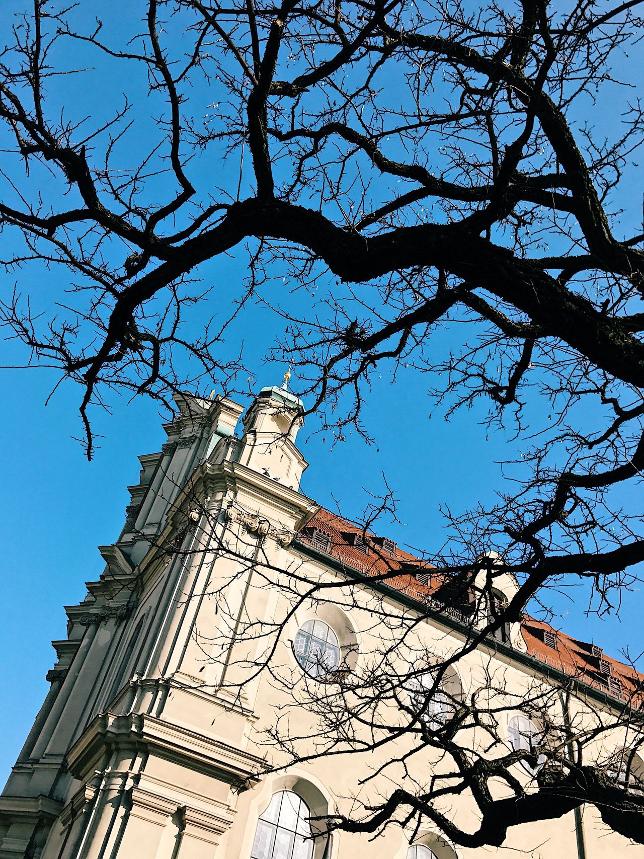 Building Exterior Sky Winter Germany Munich Tree Bavaria