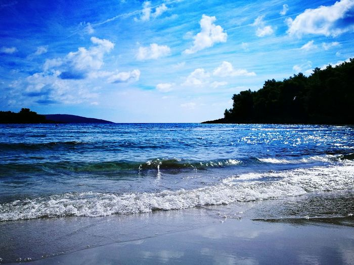 Water Blue Tranquil Scene Sky Sea Tranquility Beauty In Nature Wave Seascape Shore Waterfront Outdoors Majestic Non-urban Scene Coastline Beauty In Nature Nature Idyllic Power In Nature Montenegro Wild Beauty Montenegro2016 Beach View Made By Me Aurora Minna Scenics