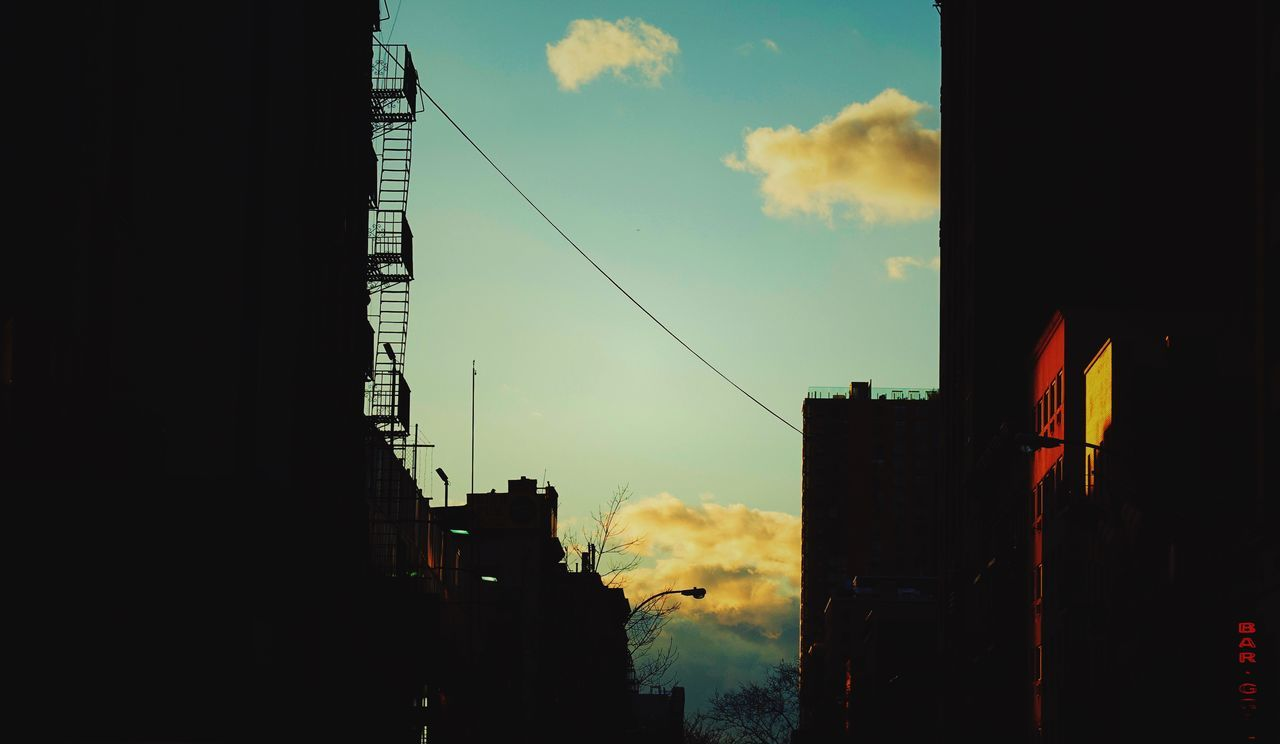 Silhouette Of Buildings In City