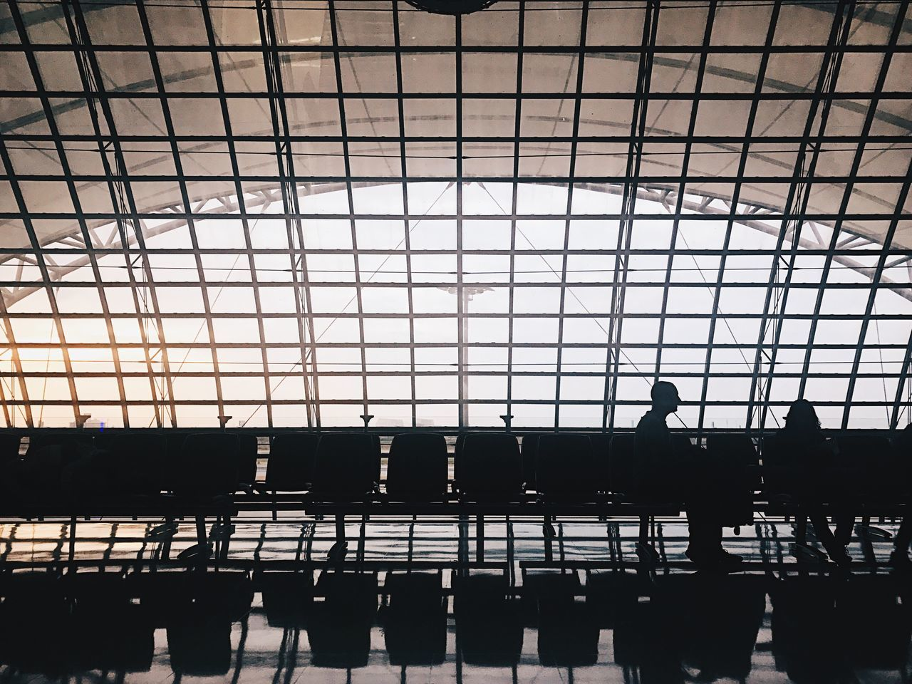 Travel Traveling Architecture Airplane Symmetry Silhouette