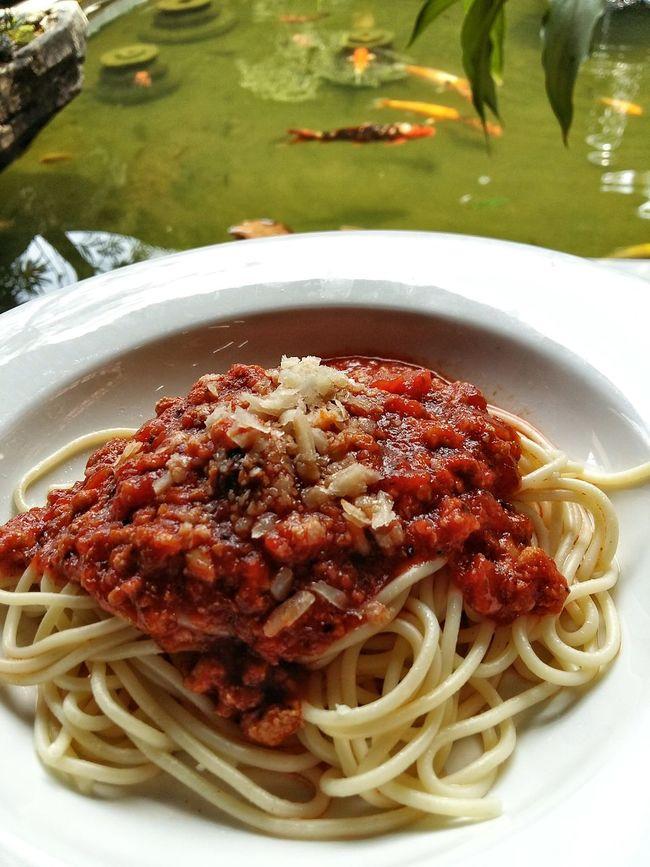 Spaghetti Spaghetti Bolognese Food Foodphotography Foodporn Pond Fish