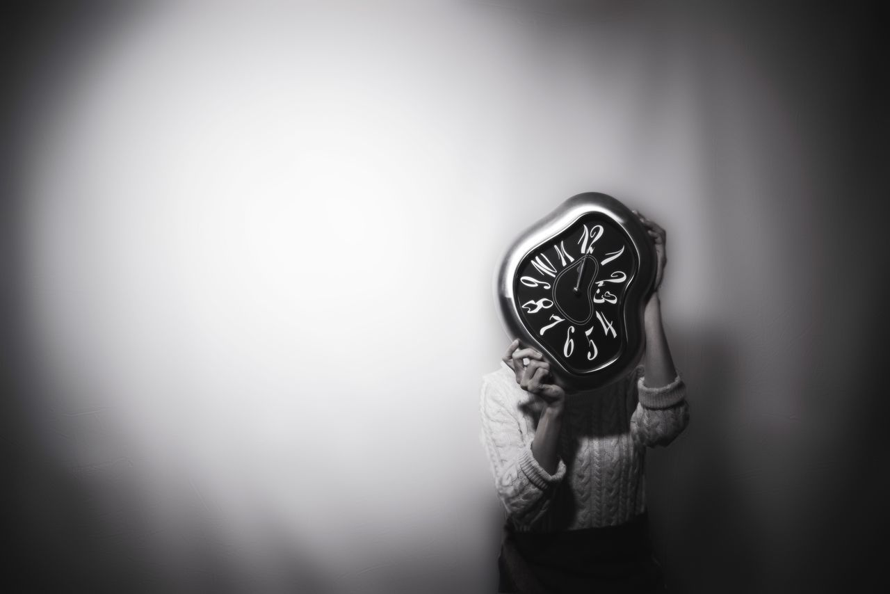 My time Minimal Surrealism Surrealist Art Surreal Blackandwhite Black And White Black & White Blackandwhite Photography Monochrome Monochrome Photography Minimalism Minimalobsession Portrait Portrait Of A Woman