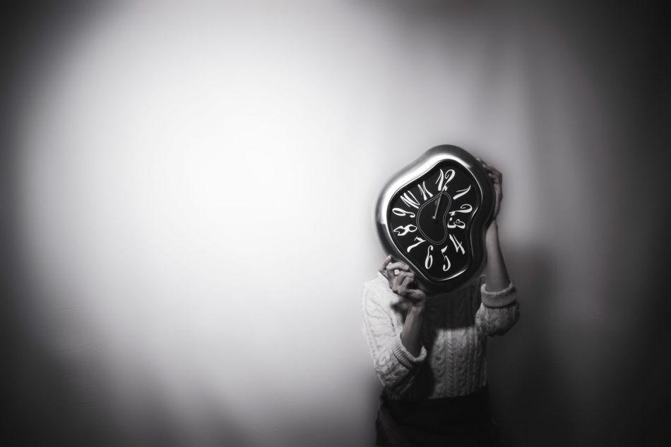 My time Minimal Surrealism Surrealist Art Surreal Blackandwhite Black And White Black & White Blackandwhite Photography Monochrome Monochrome Photography Minimalism Minimalobsession Portrait Portrait Of A Woman