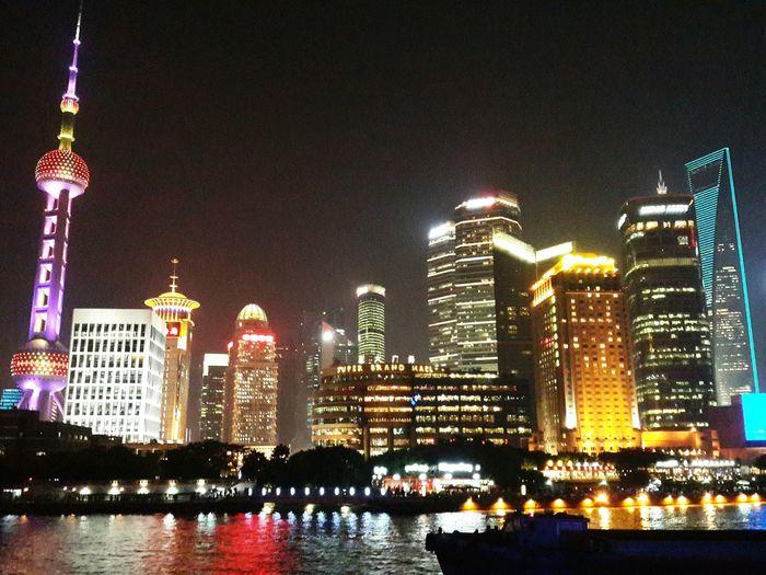 I miss this view Shanghai Cityscapes Citylights Shanghai Night Discover Shanghai China Iloveshanghai Thebund Bund Cityscape