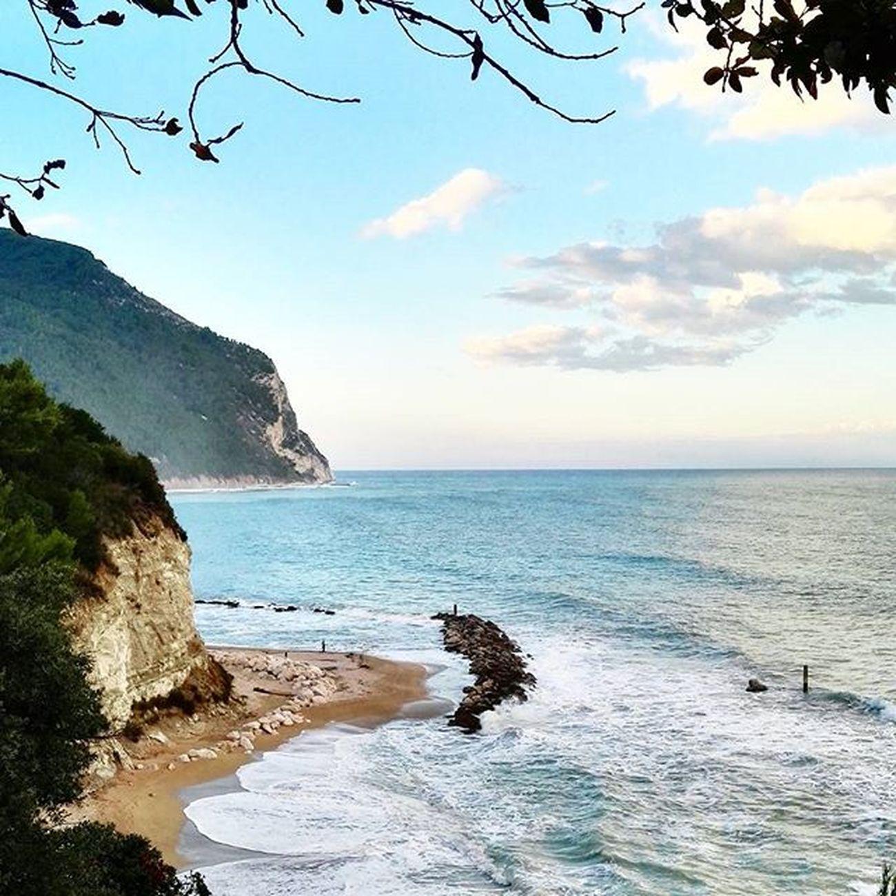 Buongiorno from beautiful beautiful Conero 🌞🌞 Conero Sirolo Italia Sea Mare Sunset Ig_marche