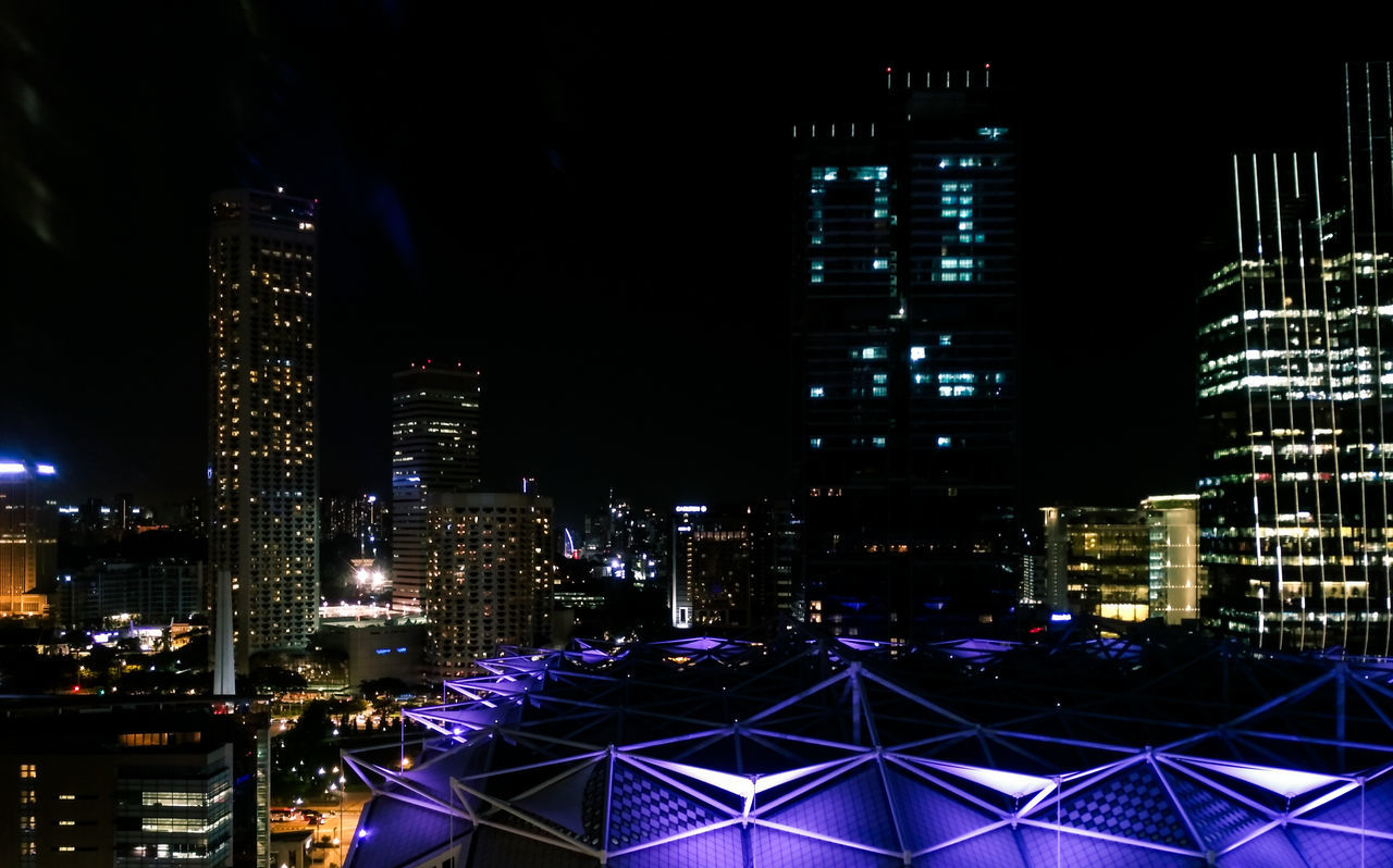 Cities At Night Cityscape Singapore VSCO