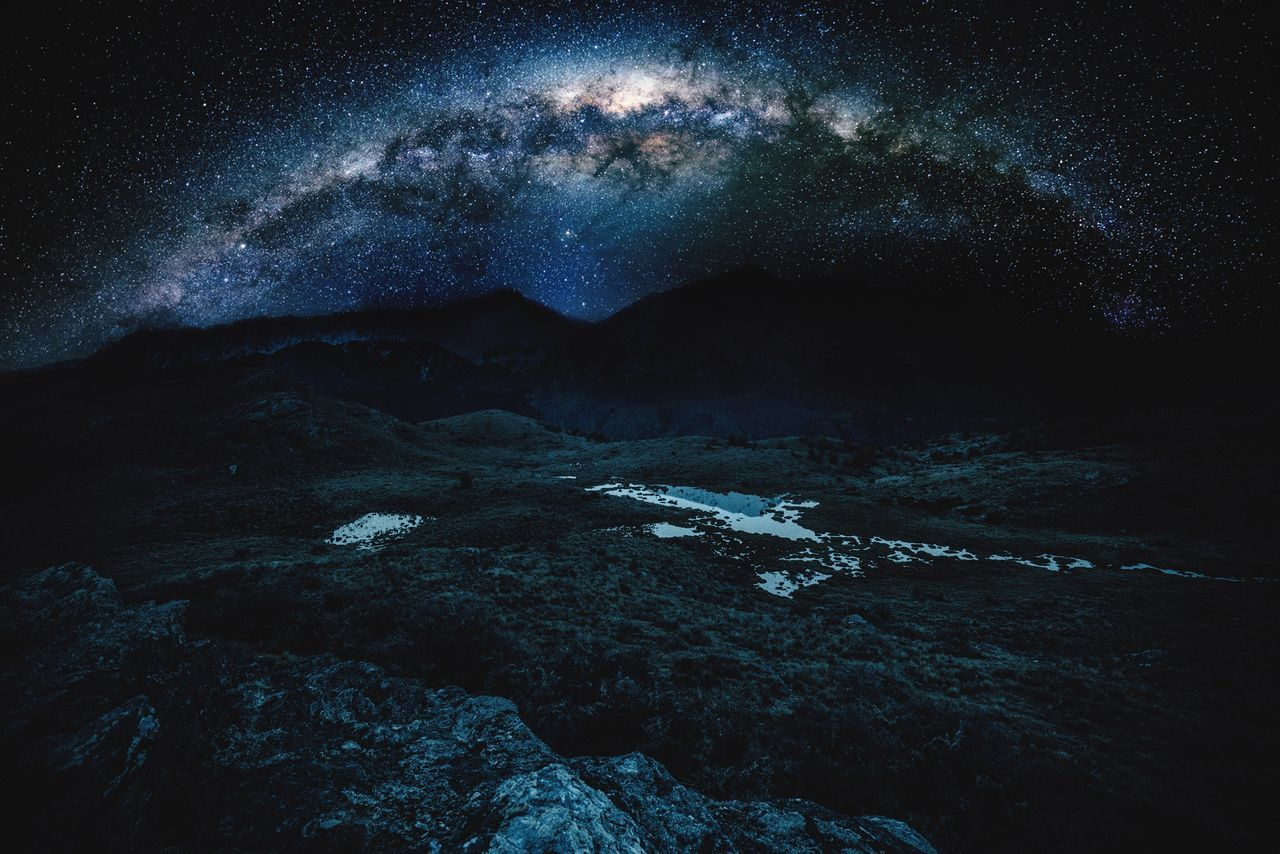 Beautiful stock photos of galaxy, night, blue, space and astronomy, sky