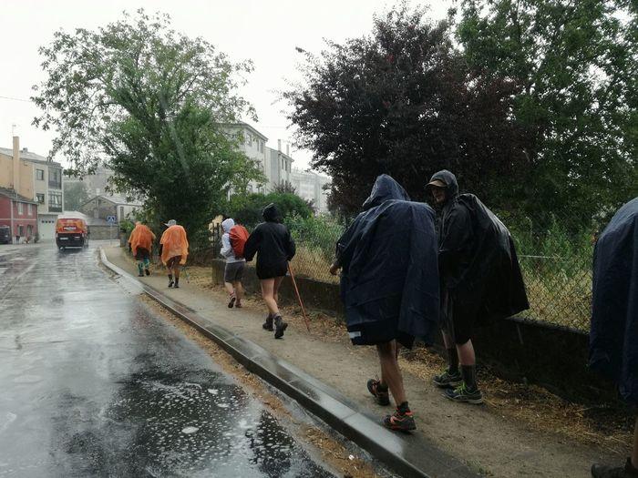 Walking rain CaminodeSantiago Rain Walking Sarria Galicia