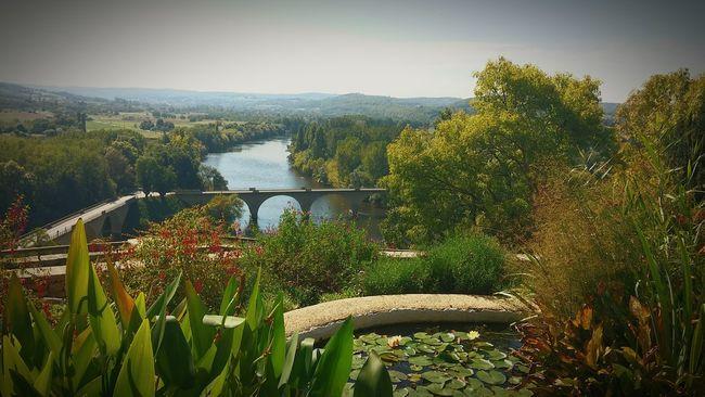 Limeuil Dordogne Landscape View Nature River View River