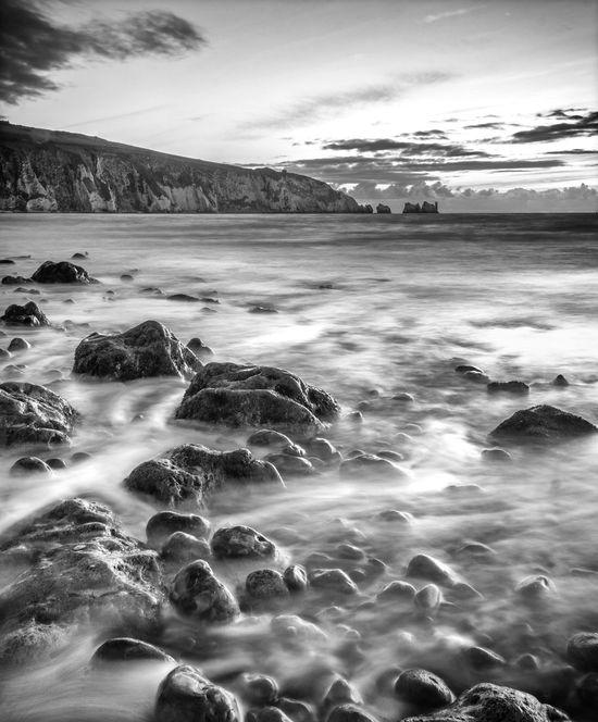 Wave motion at sunset - Alum Bay, Isle of Wight, UK Waterscape Beach Dramatic Coast Isle Of Wight  Motion Seascape Slow Shutter Speed Sunset Wet Rocks