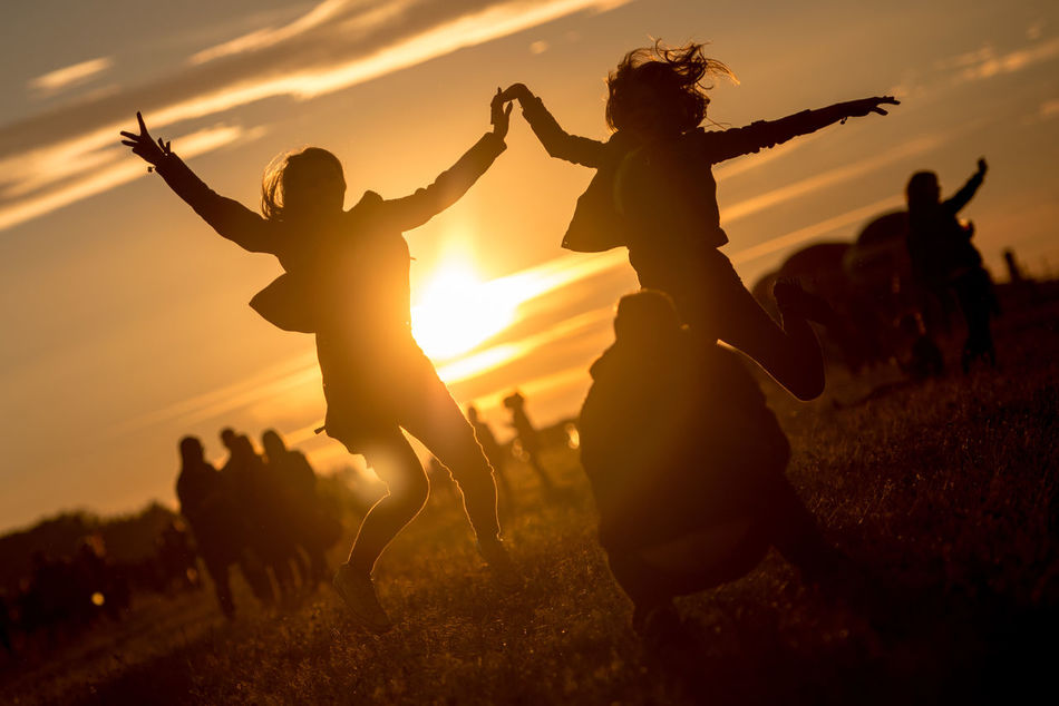 Beautiful stock photos of party, Arms Outstretched, Back Lit, Beauty In Nature, Crouching