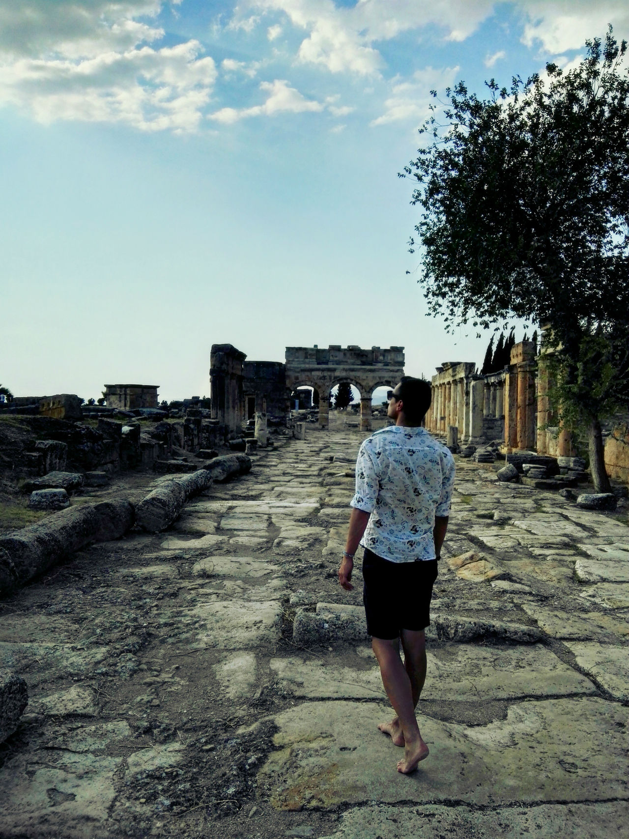 Ancient Architecture Blue Sky Boy Day History Landscape One Person Outdoors Summer Tree Turkey Walking Alone...
