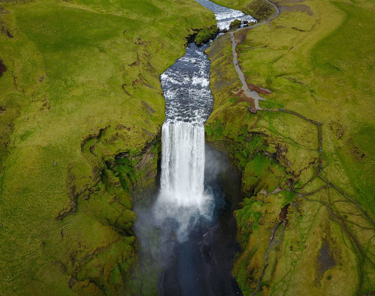 Skogafoss, Iceland skogafoss Nature outdoors beauty in Nature scenics waterfall Iceland high angle view Nature photography landscapes Nature collection Landscape_Collection EyeEm Nature Lover Traveling Travel power in nature Travel Photography EyeEm gallery eye4photography beauty in Nature landscape dronephotography droneshot DJI mavic pro Drone shot Lost in the Landscape Fresh on Market 2017