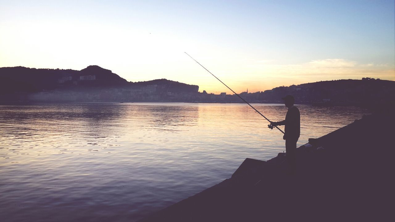 Reflection Water_collection Fishing Sunset