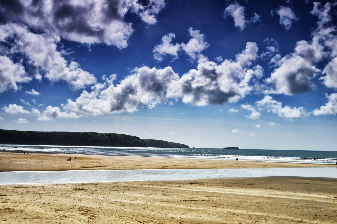 Beach Beauty In Nature Cloud - Sky Day Horizon Over Water Landscape Nature No People Outdoors Pembrokeshire Coast Sand Scenics Sea Shore Sky Tranquil Scene Tranquility Water