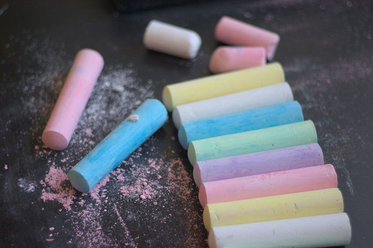 Street chalk Chalk Close-up Creativity Day Drawing Education Flavored Ice Indoors  Multi Colored No People Street Chalk
