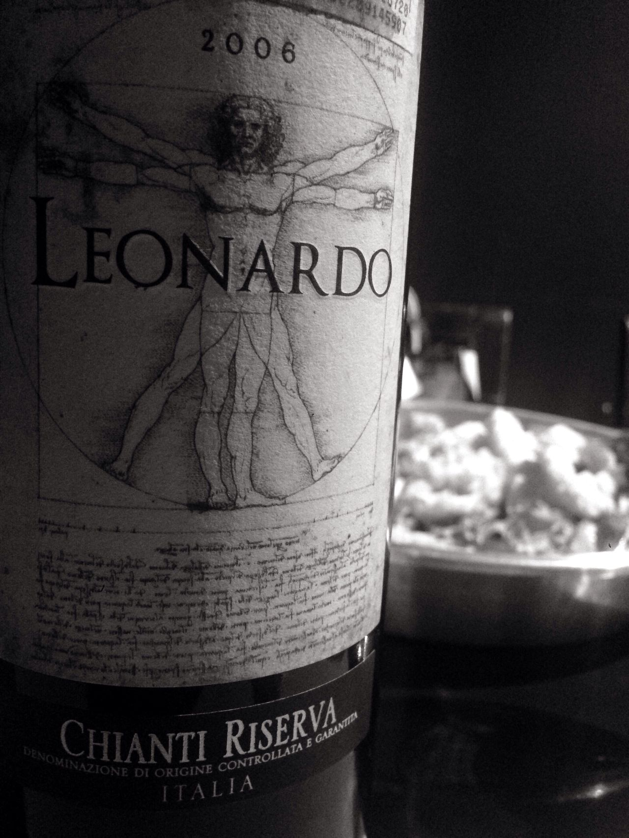 wine is the answer Text Indoors  Close-up No People Day wine Chianti Riserva Wine red wine Bottle leonardo Vitruvian