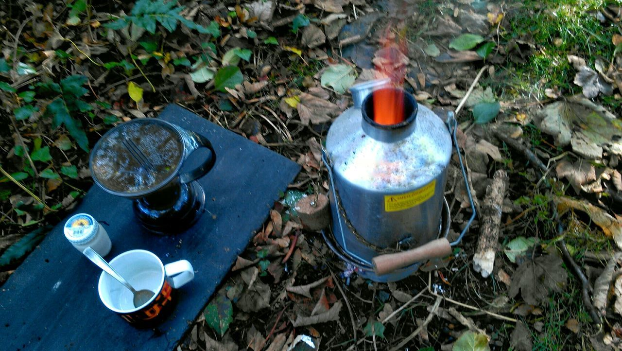Coffee camping Volcano Kettle Irish Flames & Fire Kettle Coffee Time Coffee Filter Mug Spoon Forest Floor Camping Out Camping My Favorite Breakfast Moment West Cork Wildatlanticway Ireland