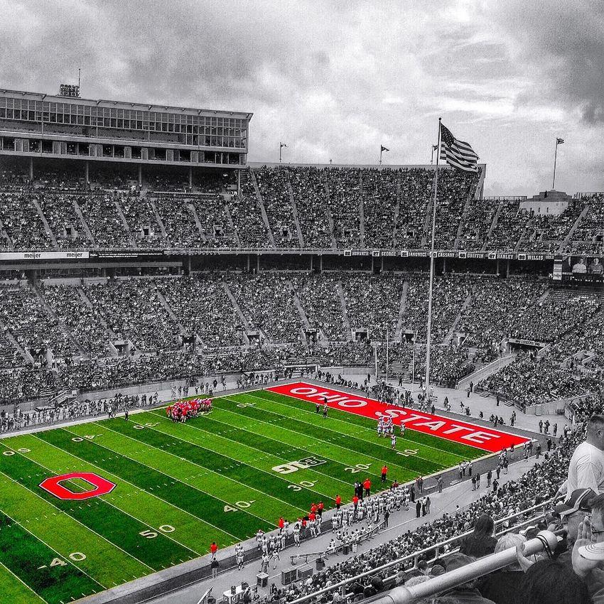 Ohio Ohio State Buckeyes Columbus, Ohio Black And White Green Football Football Stadium