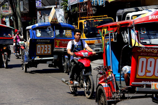 Christian Logo Colorful People  DumagueteCity Original Artwork On Pedicabs Summer Sunny Tricycles