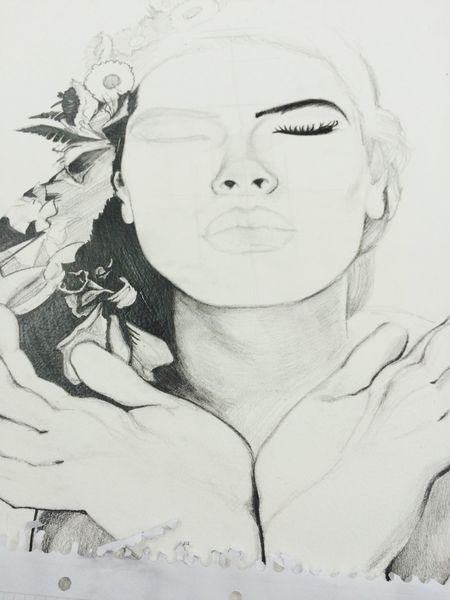 Sketch Drawing Inprogress OpenEdit Girl