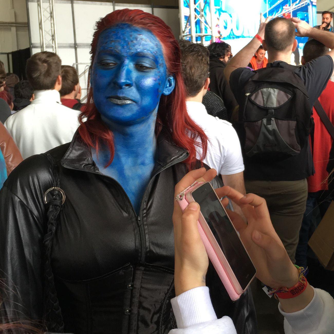 Manga game show , this one was blue . Avatar ? Frenchriviera France Blue Avatar Manga Beautiful