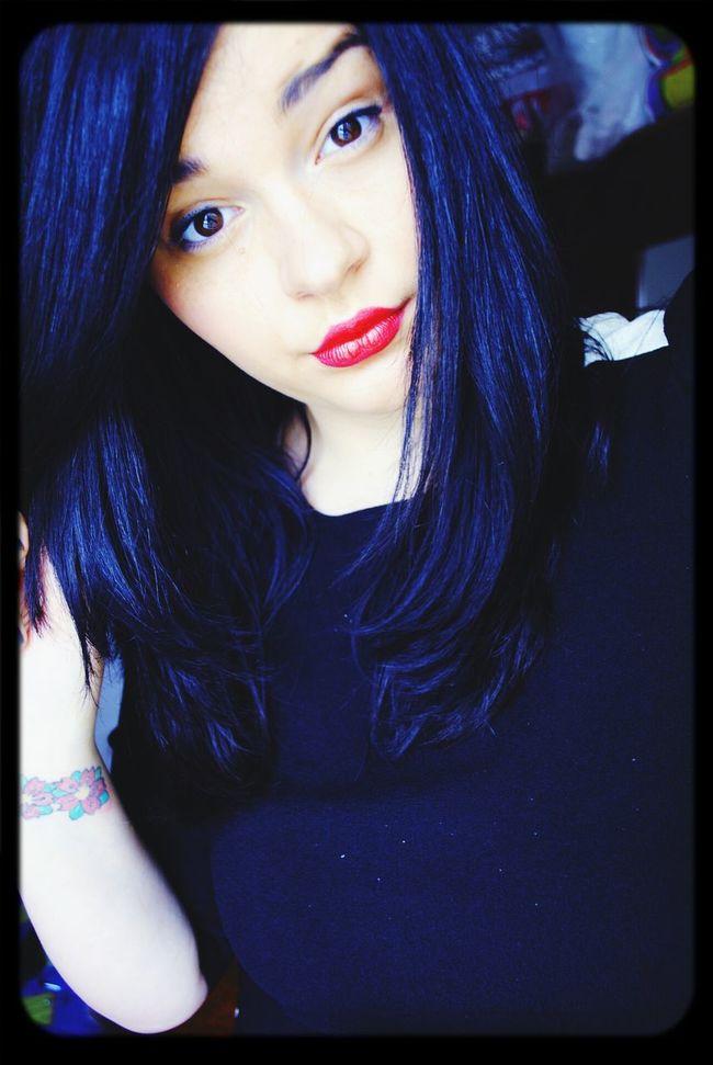 Selfie ✌ Redlipstick Red Lips New Haircut