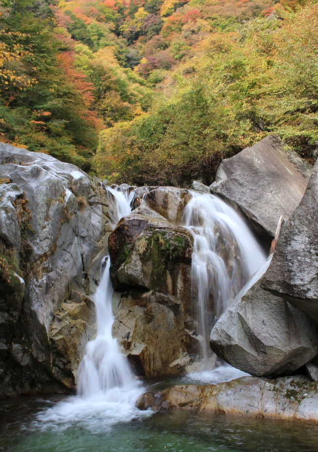 Autumn Hiking Nature Ojiro Water Waterfall Yamanashi 三の滝 尾白川渓谷 滝 白州