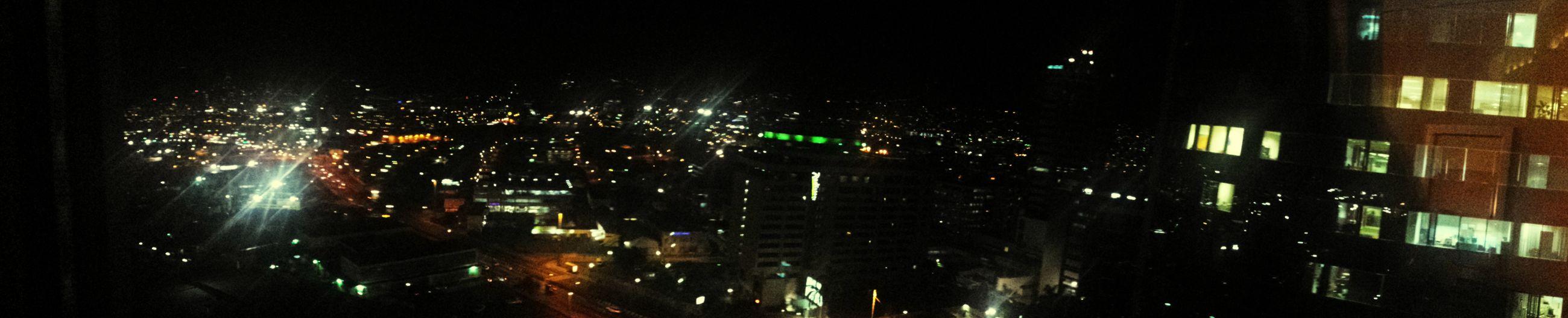 Taking Photos Hyatt Hotel Night Lights City Lights Port Of Spain Trinidad And Tobago