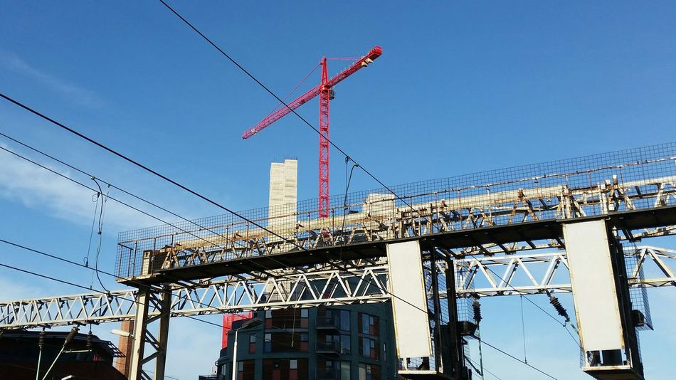 Looking up Myviewrightnow Public Transportation Sky_collection Cranes