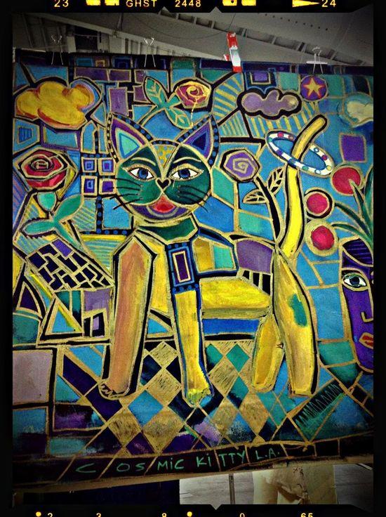Cat Cosmic Kitty L.A. -Art-World