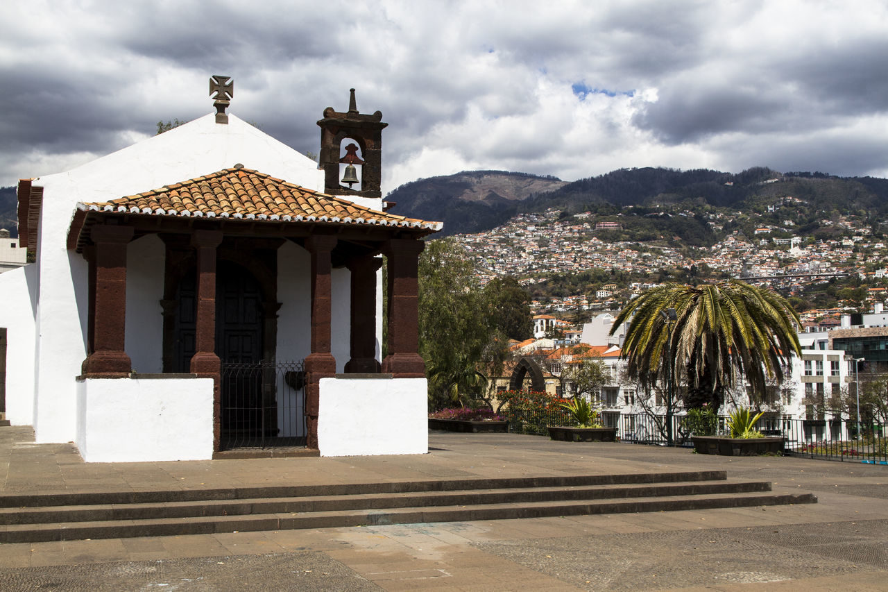 Architecture Church City Cloud Dramatic Clouds Funchal Hills Landscape Madeira No People Outside Portugal Sky Town Travel Travel Destinations