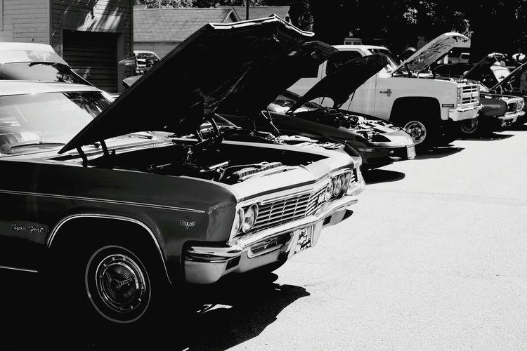 Car Show Monochrome Automobile Ancienne
