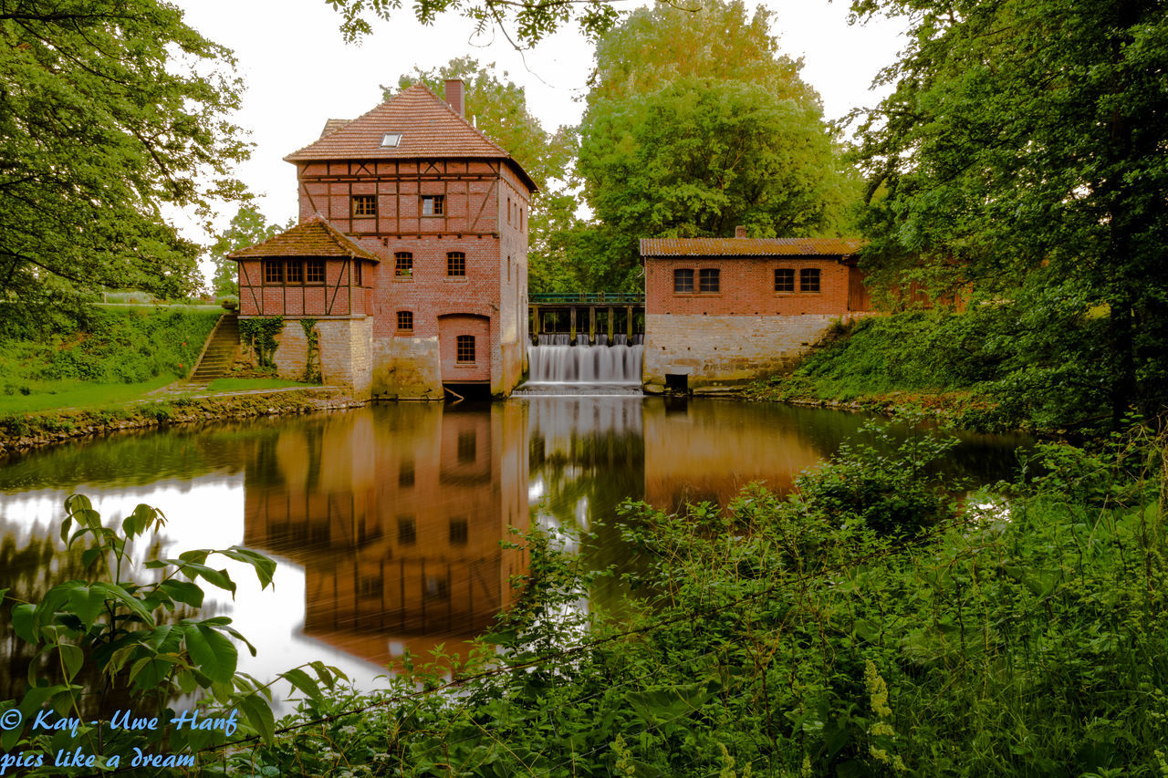 Architecture Beauty In Nature Brüningmühle Brüningmühle Schöppingen Built Structure Canal Green Color Growth Idyllic Langzeitaufnahme LongTime  Lush Foliage Nature Nikon Nikon D5500 Nikonphotography Outdoors Reflection Scenics Standing Water Tranquil Scene Tranquility Travel Destinations Tree Water