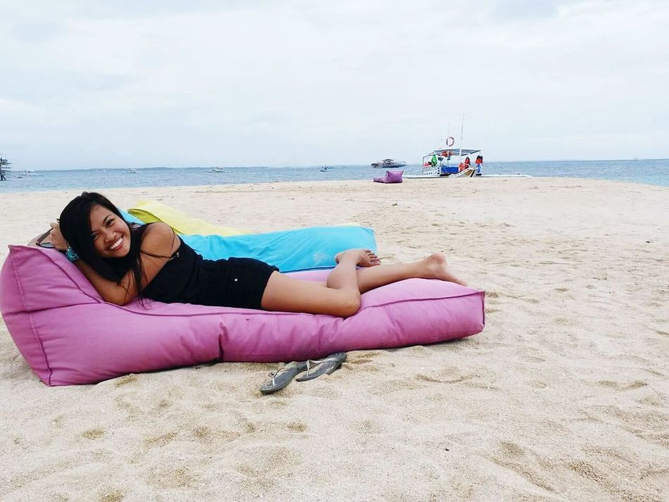 Beach Sand Sea Vacations Sky Cloud - Sky Full Length Adult Only Women One Person Relaxation Horizon Over Water Travel Destinations Leisure Activity Lying Down