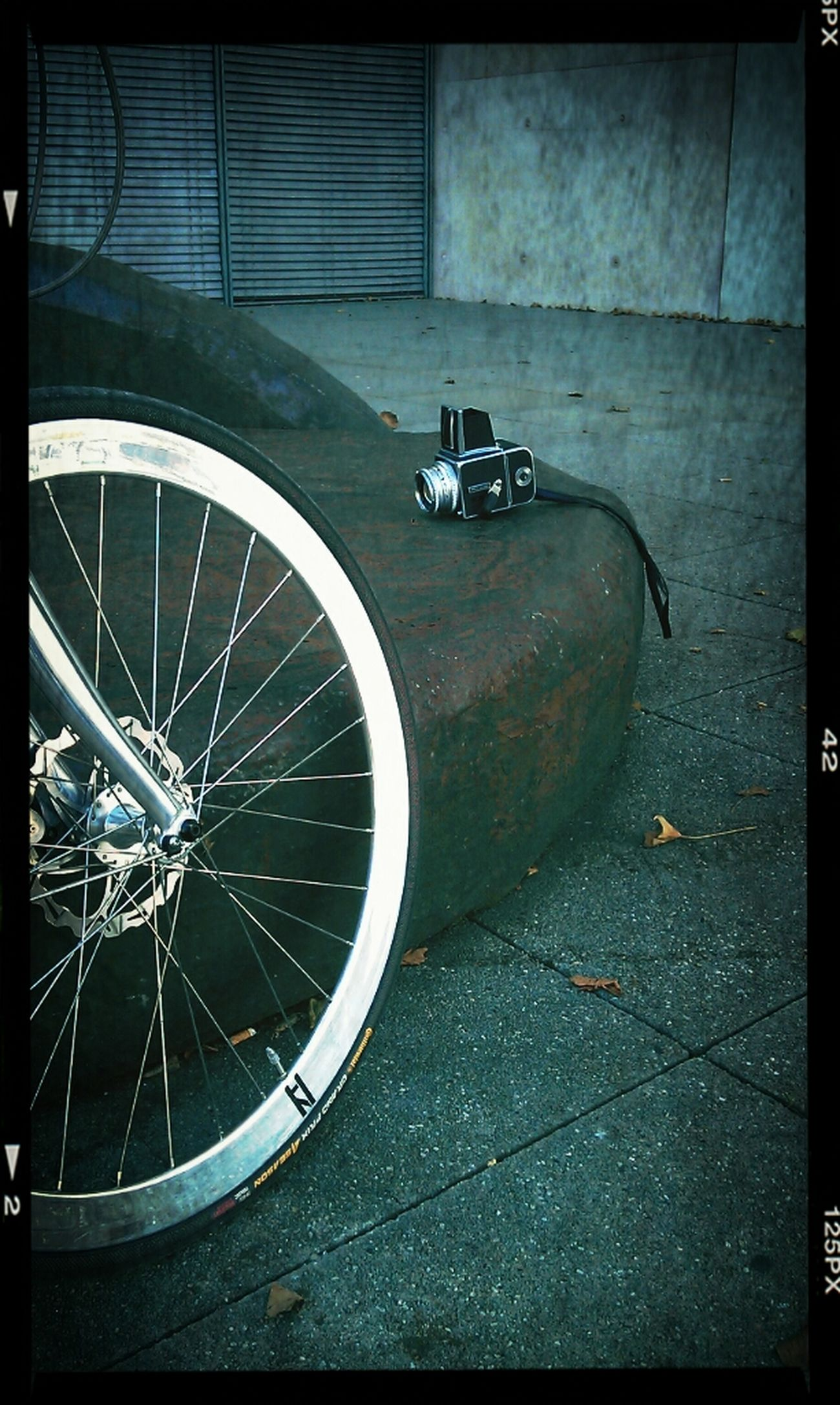 Bike Taking Photos Fixie Hasselblad