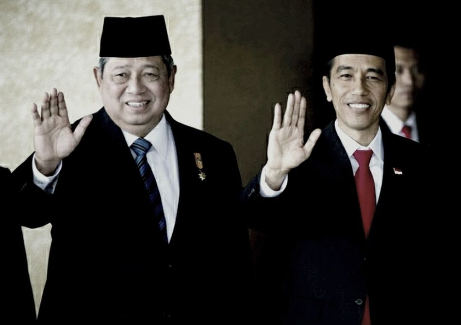 Susilo Bambang Yudhoyono and Joko Widodo, Republic Indonesia's President ...