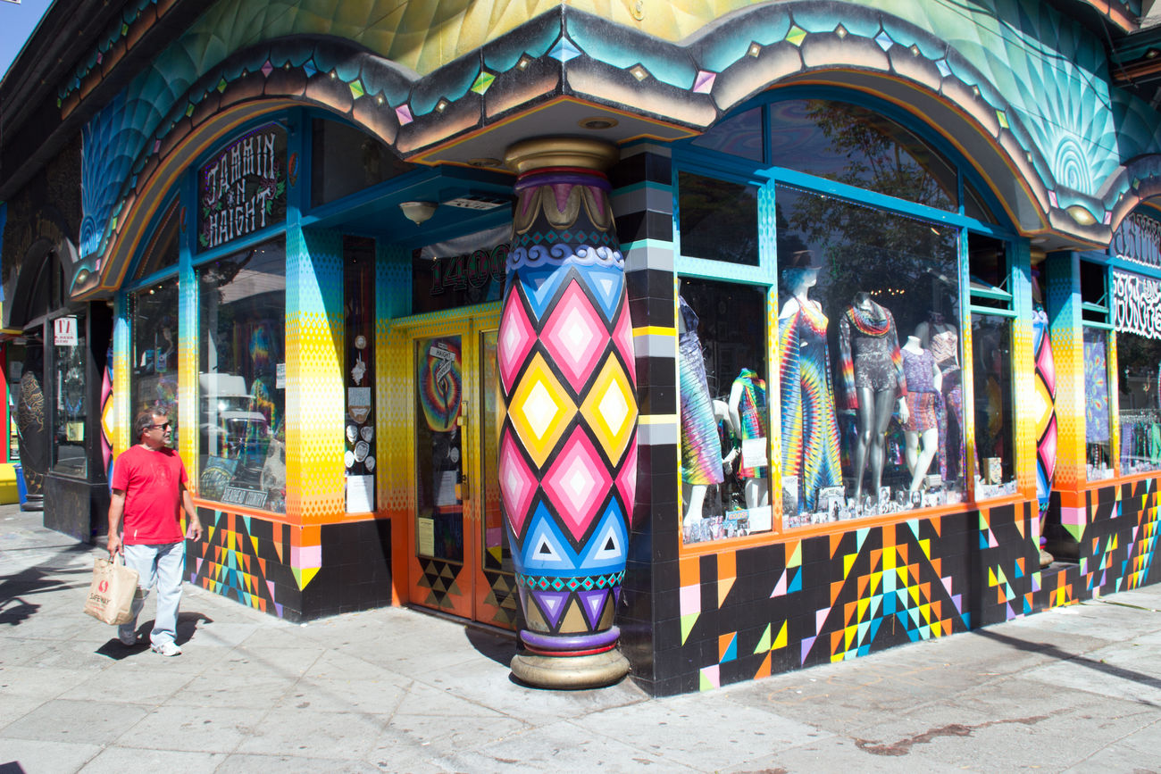 Architectural Column Architecture Built Structure City City Life City Life Haight Ashbury Hippie Liberty Lifestyles Multi Colored Neighborhood Peace Peace And Love Sixties Walkway