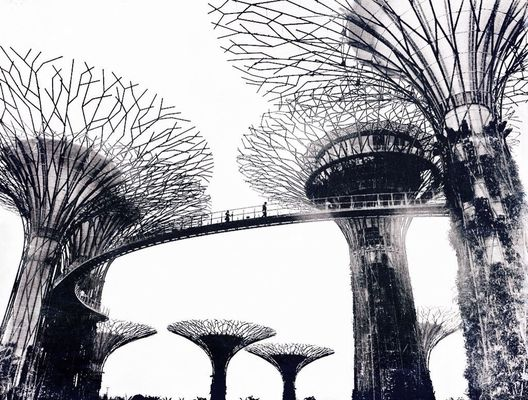 blackandwhite at Garden by the bay, Singapore by isna alfiathi