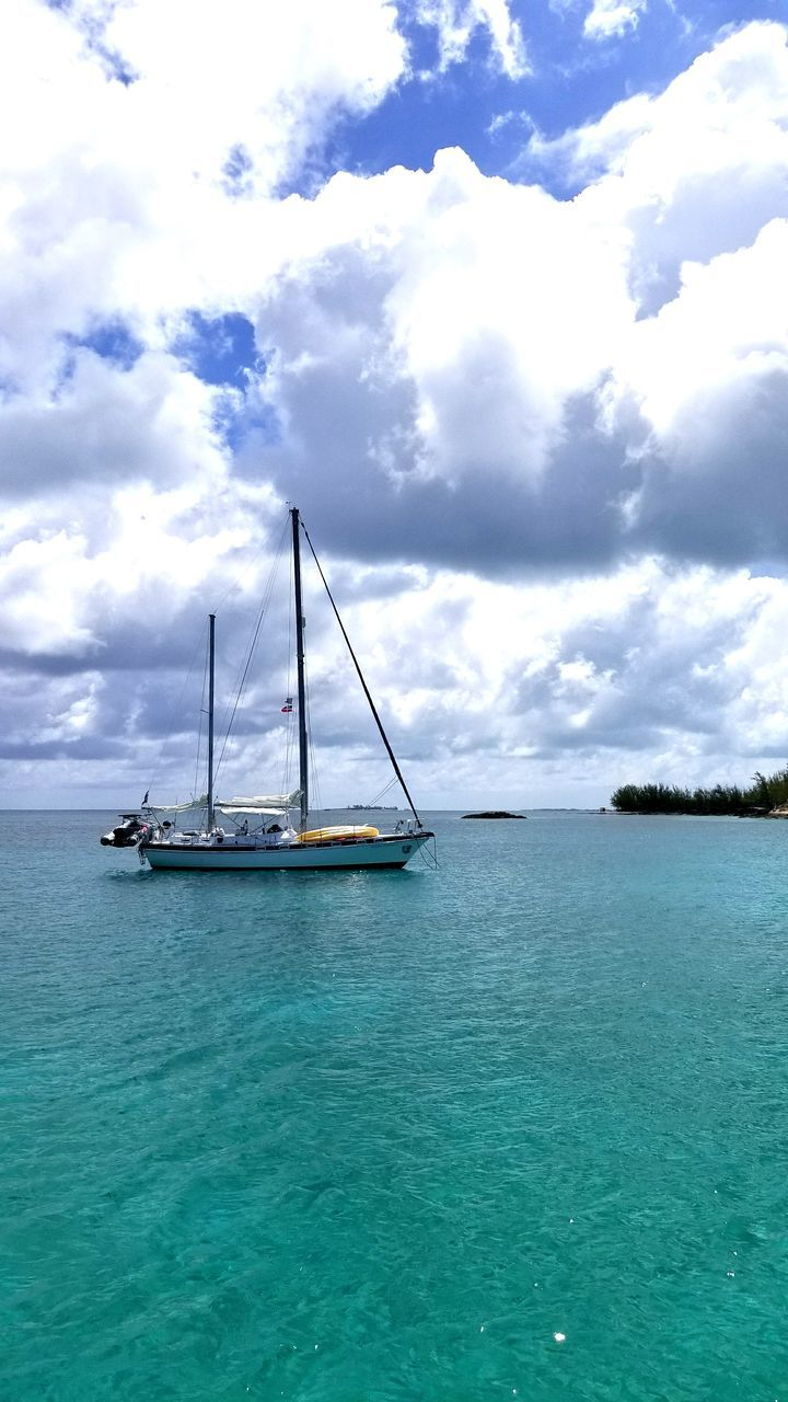 sea, sky, cloud - sky, water, scenics, beauty in nature, nature, tranquility, day, horizon over water, outdoors, nautical vessel, tranquil scene, transportation, no people, beach
