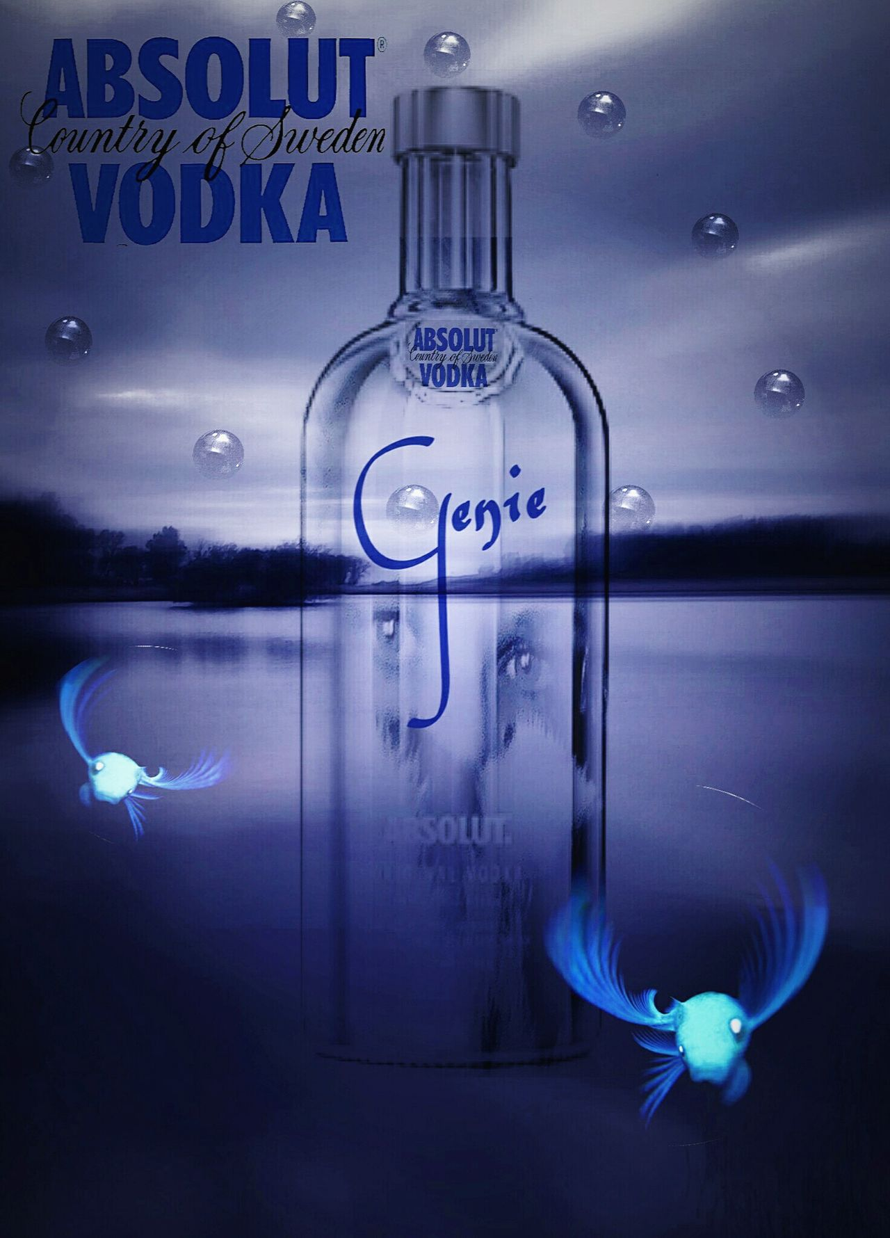 Genie In A Bottle Absolut Vodka with Esther