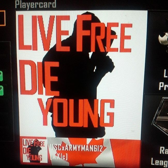 Who likes my new emblem LiveFreeDieYoung Paulwalker Rip Codbo2